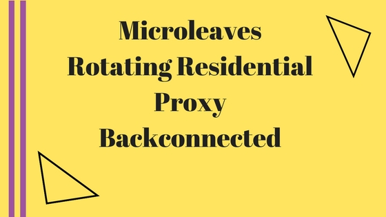 Rotating Residential Proxy Backconnected
