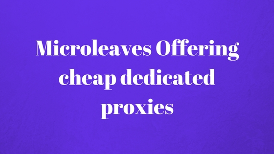 Microleaves Offering cheap dedicated proxies