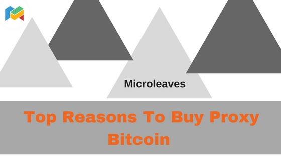 Top Reasons To Buy Proxy Bitcoin