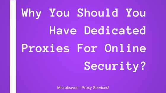 Dedicated Proxies For Online Security