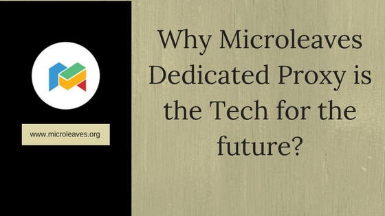 Why Microleaves Dedicated Proxy is the Tech for the future?