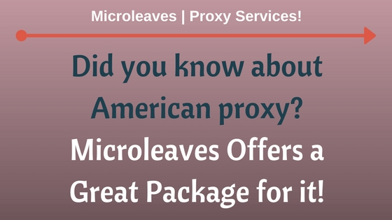 Did you know about American Proxy? Microleaves Offers a Great Package for it!
