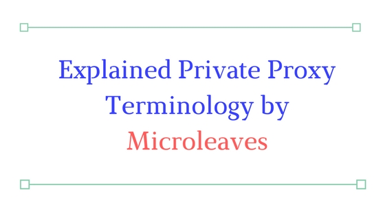 Private Proxy Terminology