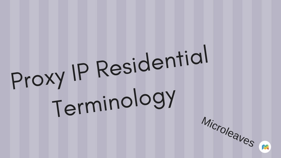 Proxy IP Residential Terminology