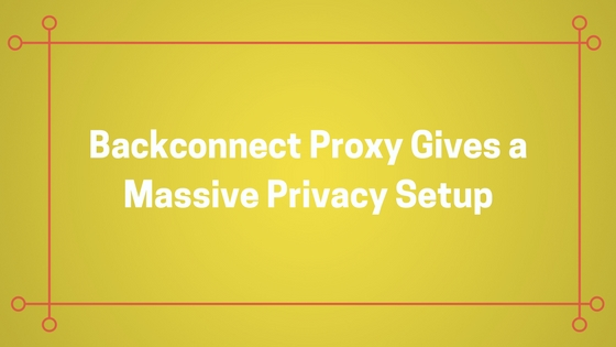Backconnect Proxy Gives a Massive Privacy Setup